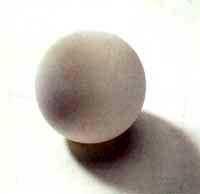 Silikonball,67mm weiß Stück