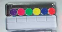 Aquacolor Schminkpalette 6er Tagesleucht