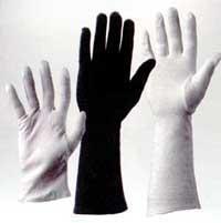 Handschuhe weiß, kurz, Paar